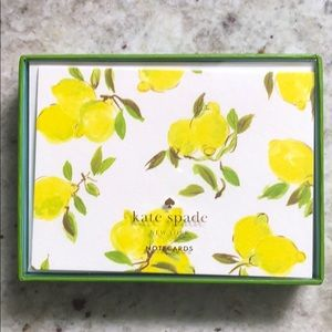 Kate spade ♠️ Lemon Note Card Set NWT